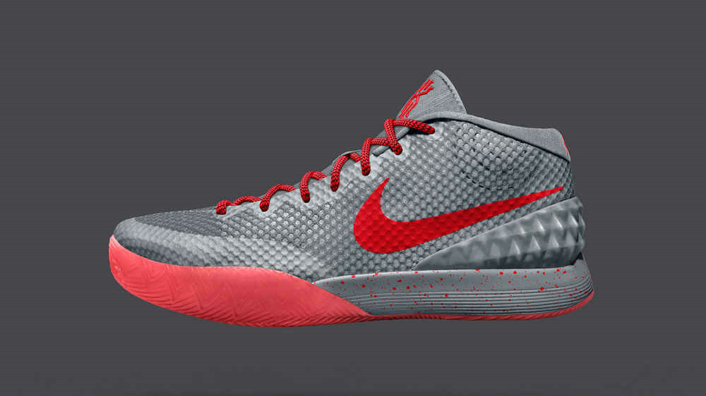Cheap Wholesale Nike Kyrie 1 Wholesale iD Wolf Grey Red Bright Crimson
