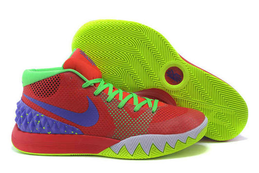 Cheap Wholesale Nike Kyrie 1 Wholesale Red Volt Green Purple