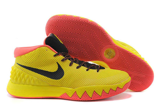 Cheap Wholesale Nike Kyrie 1 Wholesale Yellow Black Bright Crimson