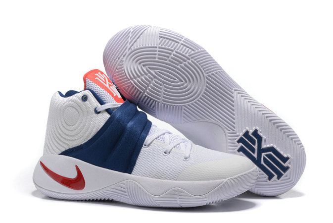 Cheap Wholesale Nike Kyrie Irving 2 Champion White Blue Red