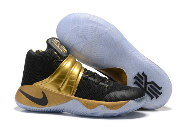 Cheap Wholesale Nike Kyrie 2 Womens Gold Black