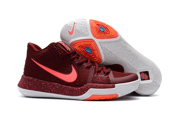 Cheap Wholesale Nike Kyrie Irving 3 Kids Wine Red Pink White