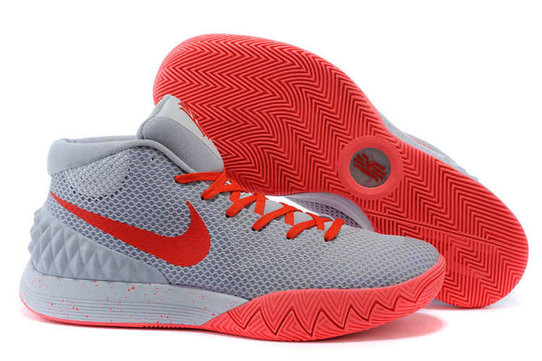Cheap Wholesale Nike Kyrie 1 Wholesale Cool Grey Red Bright Crimson