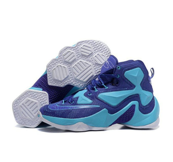 Cheap Wholesale Nike Lebron James 13 Basketball Shoes blue white