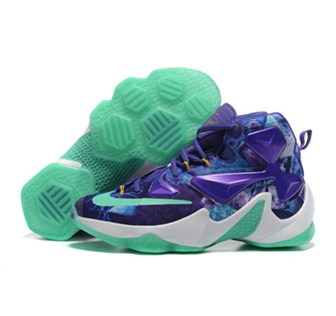Cheap Wholesale Nike Lebron James 13 Basketball Shoes custom purple