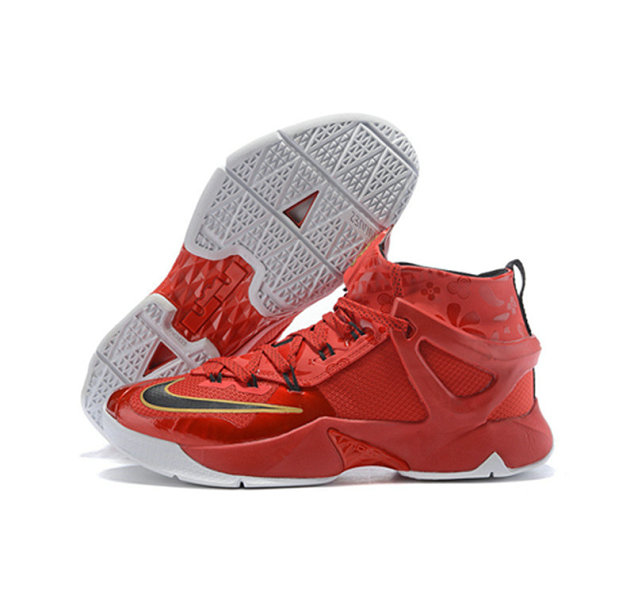 Cheap Wholesale Nike Lebron James 13 Basketball Shoes Red Gold Black White