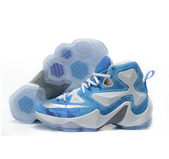 Cheap Wholesale Nike Lebron James 13 Basketball Shoes white blue