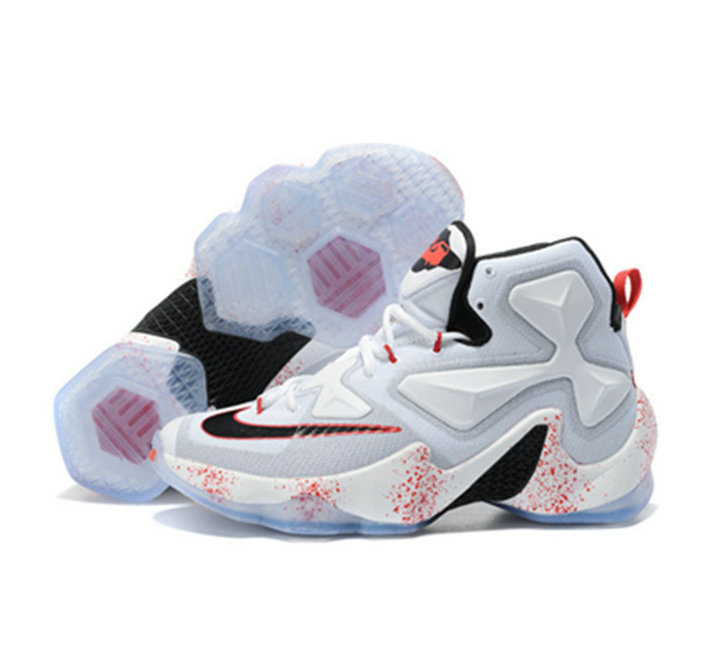 Cheap Wholesale Nike Lebron James 13 Basketball Shoes white splash-ink