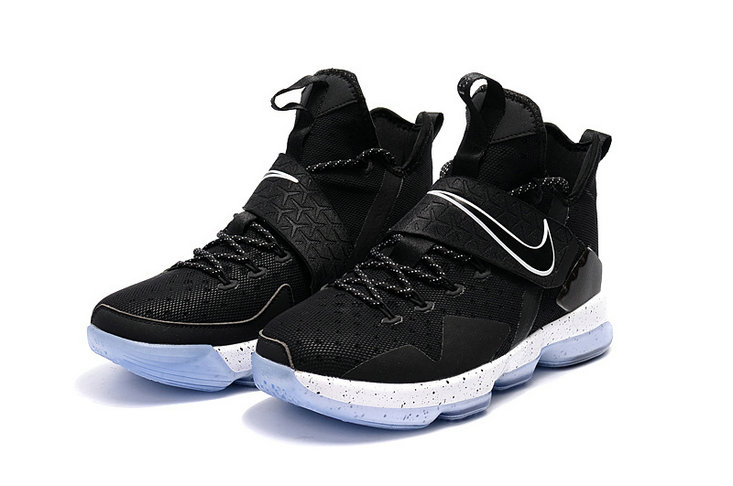 Cheap Wholesale Lebron 14 For Kids Black White