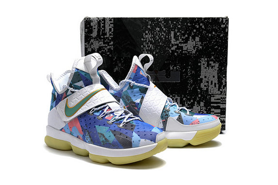 Cheap Wholesale Lebron 14 For Kids Blue White Pink
