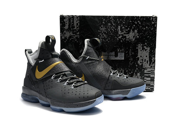 Cheap Wholesale Lebron 14 For Kids Grey Gold