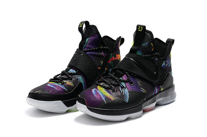 Cheap Wholesale Lebron 14 For Kids Purpke Black Orange Blue