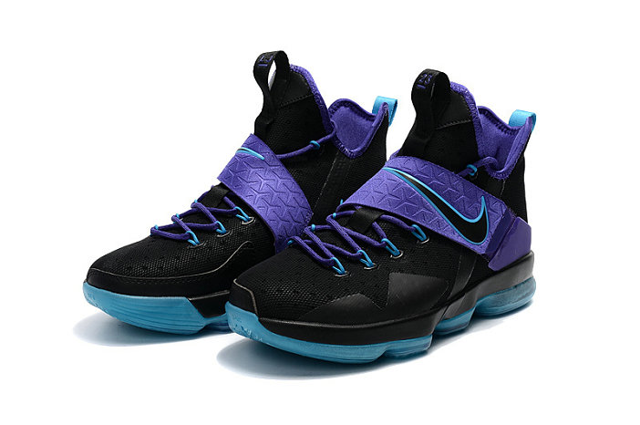 Cheap Wholesale Lebron 14 For Womens Black Purple Blue