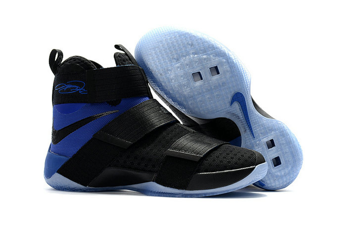 Cheap Wholesale Sale Nike Lebron Soldier 10 Blue Black