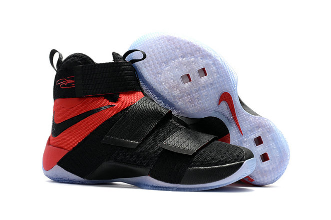 Cheap Wholesale Sale Nike Lebron Soldier 10 Red Black White
