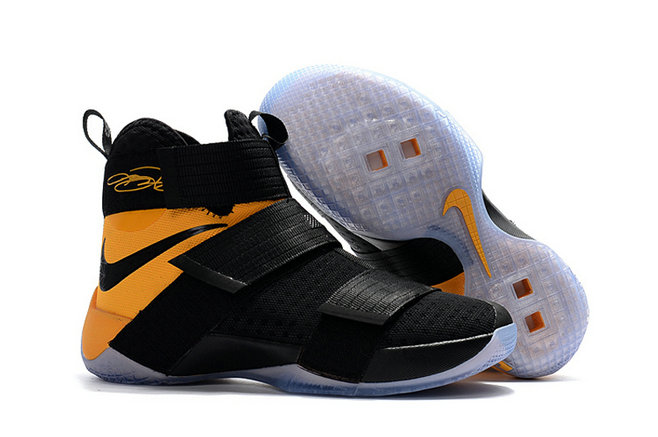 Cheap Wholesale Sale Nike Lebron Soldier 10 Yellow Black White