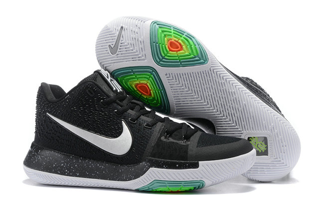 Cheap Wholesale Sale Kids Nike Kyrie Irving 3 Black White Green