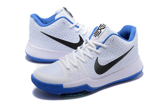 Cheap Wholesale Sale Kids Nike Kyrie Irving 3 White Blue Black
