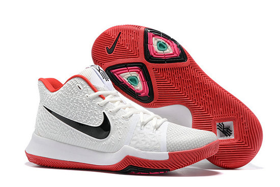 Cheap Wholesale Sale Kids Nike Kyrie Irving 3 White Black Red