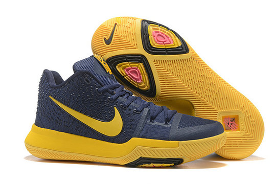 Cheap Wholesale Sale Kids Nike Kyrie Irving 3 Yellow Navy Blue