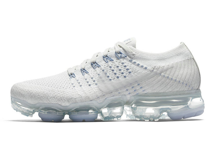 Cheap Wholesale Nike Air VaporMax Triple White Blue Womens