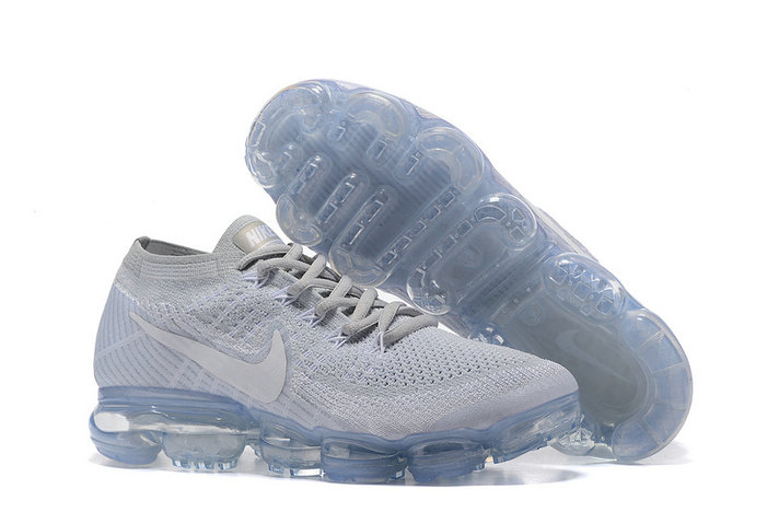 Cheap Wholesale Nike Air VaporMax 2017 Grey Sky Blue Womens
