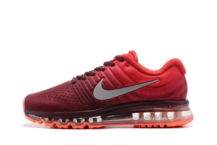 Cheap Wholesale Nike Air Max 2017 Red Grey Womens