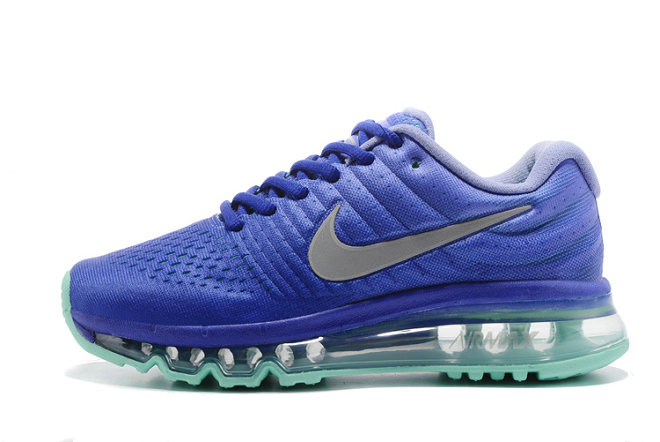 Cheap Wholesale Nike Air Max 2017 Blue Grey Womens