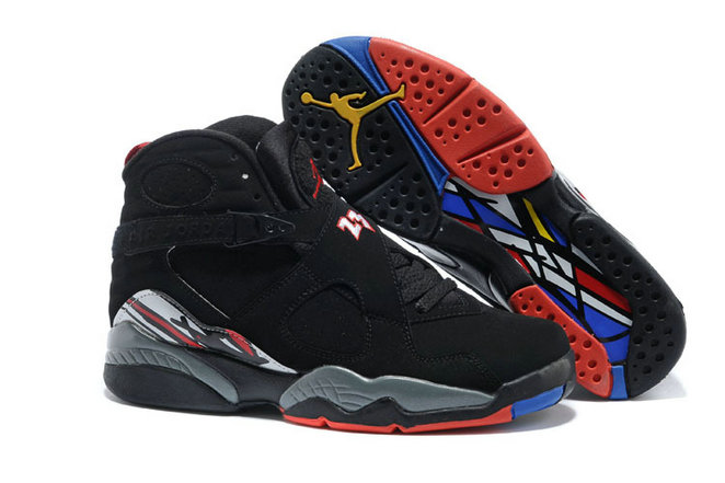 Cheap Wholesale Nike AirJordanRetro 8 Red Black White Yellow Grey