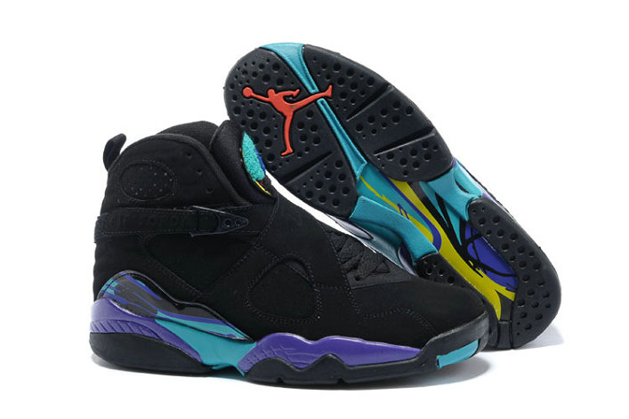 Cheap Wholesale Nike AirJordanRetro 8 Black Purple Blue Red
