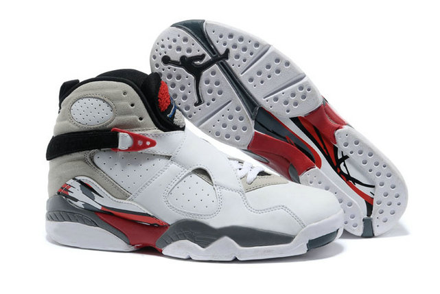 Cheap Wholesale Nike AirJordanRetro 8 Red Grey White