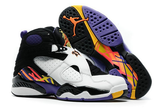 Cheap Wholesale Nike AirJordanRetro 8 White Black Orange Yellow Blue