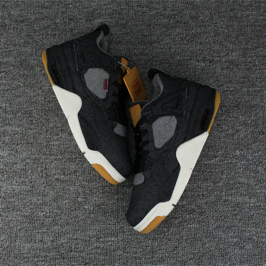 Cheap Wholesale Air Jordan Shoes x Cheap Wholesale Nike Air Jordan 4 Levis Black