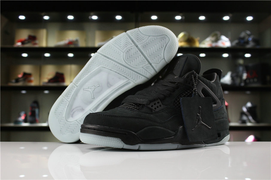 Cheap Wholesale Air Jordan Shoes x Cheap Wholesale Nike KAWS x Air Jordan 4 Black