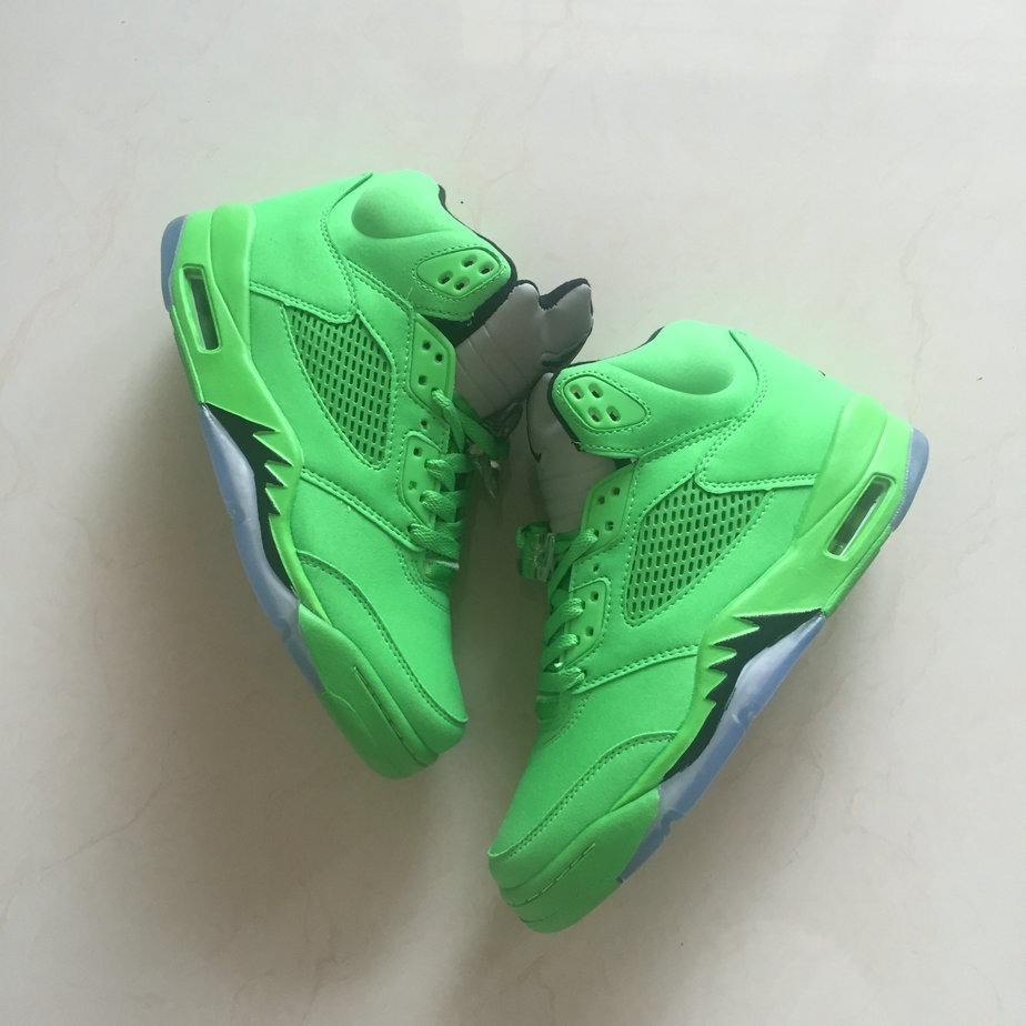 watch d198f a9b11 Cheap Wholesale Air Jordan Shoes x Cheap Wholesale Nike Air Jordan 5 Apple  Green