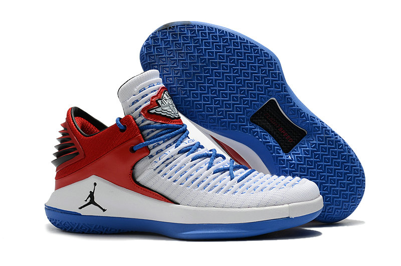 2018 Cheap Air Jordan Retro 32 Fire Red White Blue