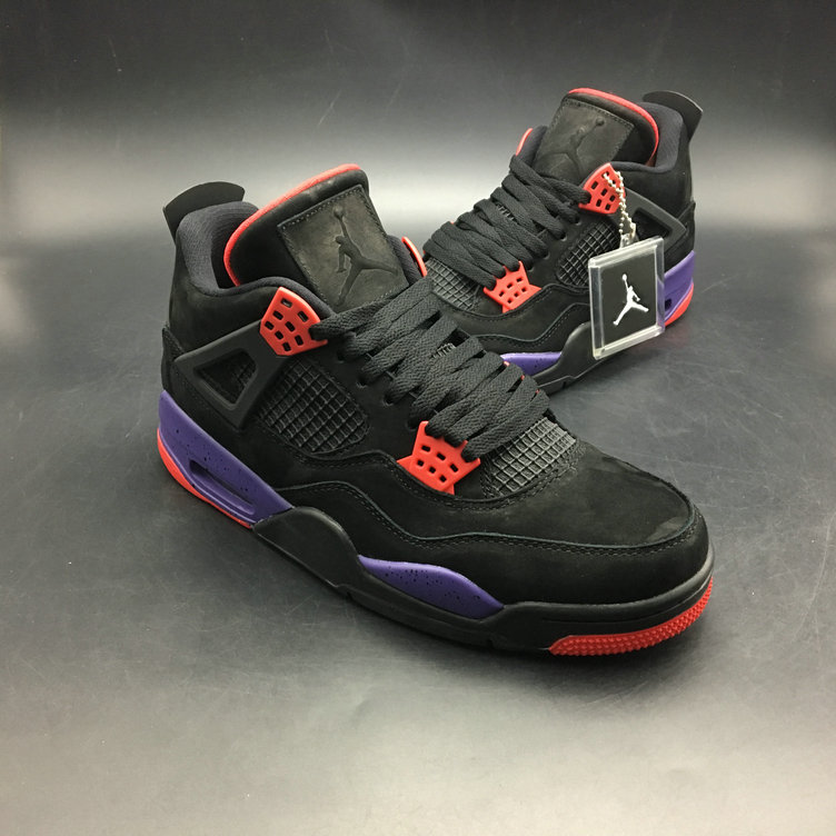 2018 Cheap Air Jordans Retro 4 Raptors AQ3816-056 Red Black Purple