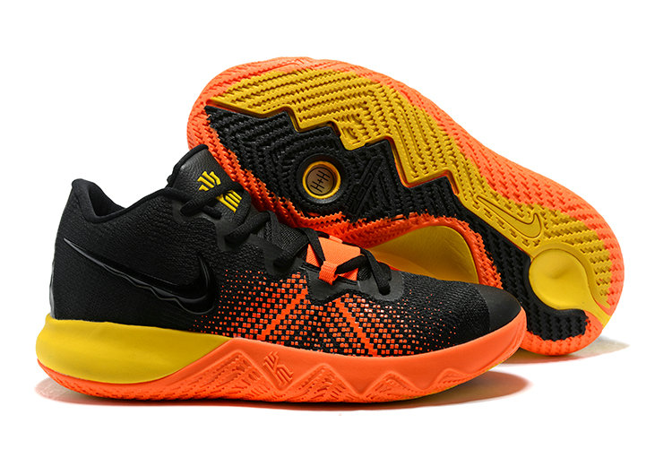 2018 Cheap Wholesale Nike Kyrie Irving Flytrap Black Yellow Orange