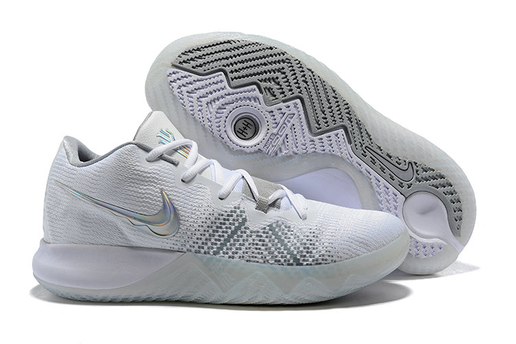2018 Cheap Wholesale Nike Kyrie Irving Flytrap White Grey Silver