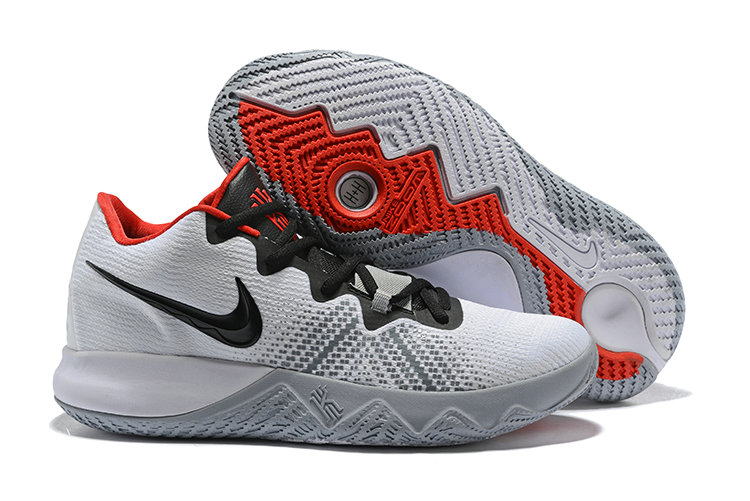 2018 Cheap Wholesale Nike Kyrie Irving Flytrap White Red Black