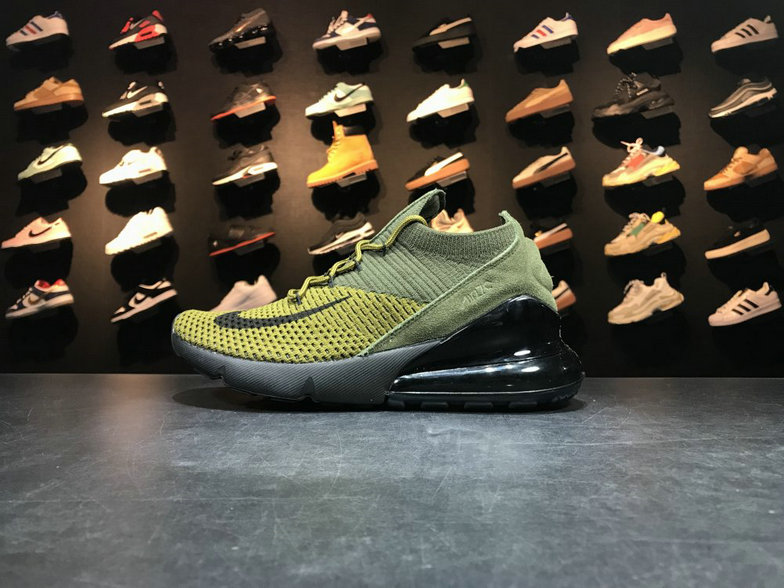Cheap Wholesale NikeLab Air Max x Cheap Wholesale Nike Air Max 270 Flyknit Army Green Dark Green-Black Vert Fonce Vert Noir