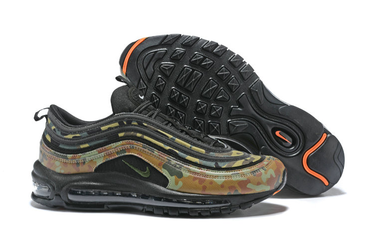 Cheap Wholesale NikeLab Air Max x Cheap Wholesale Nike Air Max 97 Camo Pack Army Green Orange Black