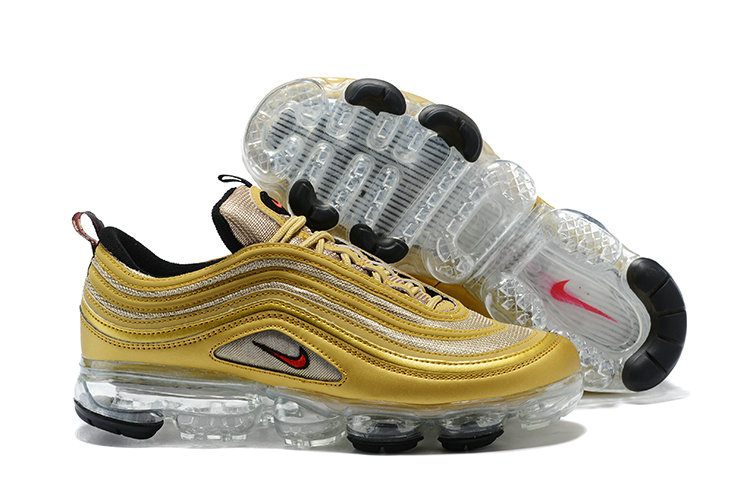 Cheap Wholesale NikeLab Air Max x Cheap Wholesale Nike Air Max 97 x Air Vapor Max Reinterprets Metallic Gold OG