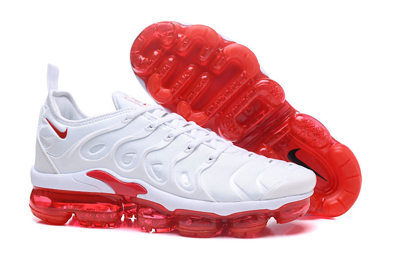 Cheap Wholesale NikeLab VaporMax x Cheap Wholesale Nike Air Vapormax Plus Triple White Fire Red