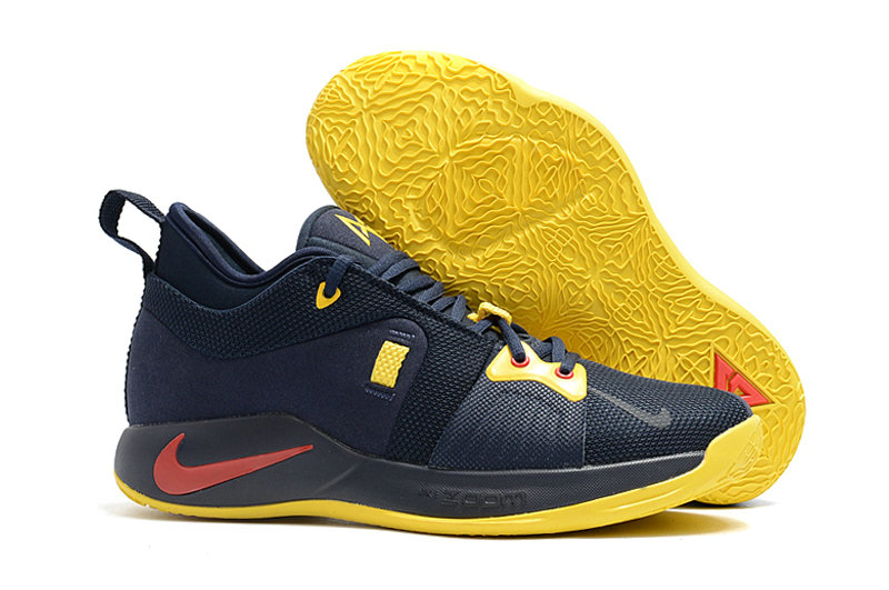 2018 Cheap Nike PG 2  Paul George Red Navy Blue Yellow