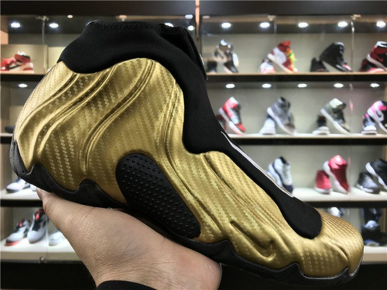 Cheap Wholesale Nike Flightposite x Cheap Wholesale Nike Air Flightposite One Gold Black