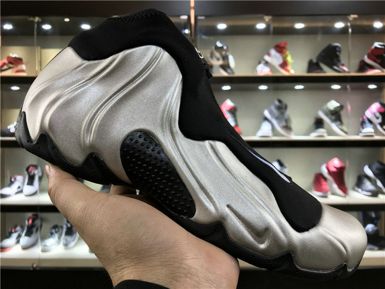 Cheap Wholesale Nike Flightposite x Cheap Wholesale Nike Air Flightposite One Silver Black