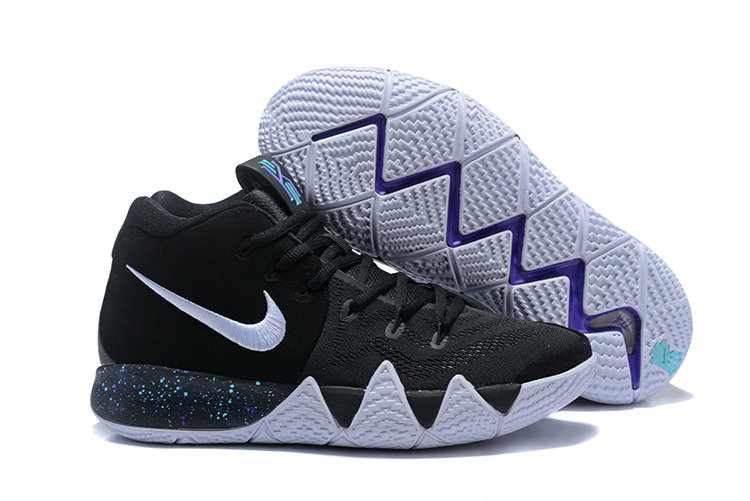 Cheap Wholesale Nike Kyrie Shoes x Cheap Wholesale Kids Kyrie 4 Black White-Anthracite-Light Racer Blue 943806-002