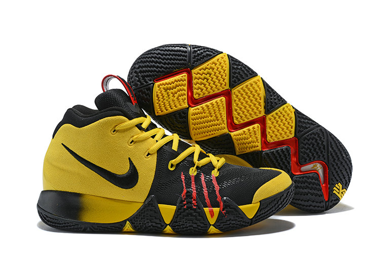 Cheap Wholesale Nike Kyrie Shoes x Cheap Wholesale Nike Kyrie 4 Bruce Lee Yellow Black Red