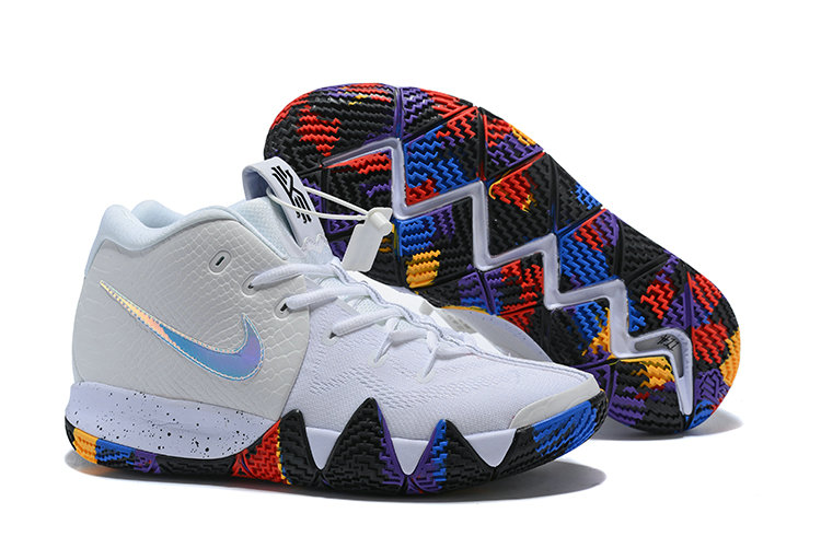 Cheap Wholesale Nike Kyrie Shoes x Cheap Wholesale Nike Kyrie 4 March Madness White Multi-Color